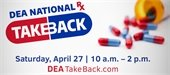Drug Take-Back Event is Saturday, April 27