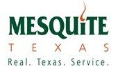 Mesquite Texas Real. Texas. Service. logo