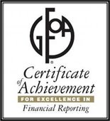 Certificate of excellence financial reporting
