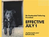 Learn about Mesquite's No Unattended Tethering ordinance