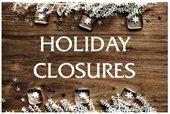 City holiday closures Dec. 24-25