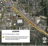 IH 635 Project closures