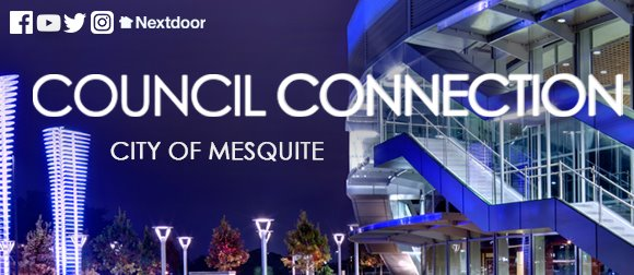 Council Connection logo with City Hall in background at dusk