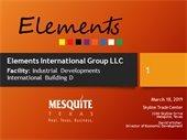 Presentation slide about Elements International Group LLC