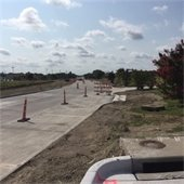 Town East Phase 2 paving the road