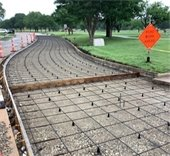 construction for the Real Texas Road project