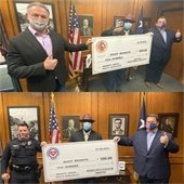 Mesquite Firefighters Association and Police Association donate to Mesquite NAACP