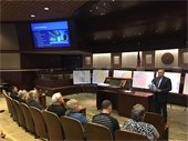 City Manager leading public meeting in Council Chamber