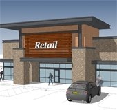 rendering of Shadow Creek Crossing commercial project