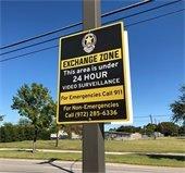 safe exchange zone sign
