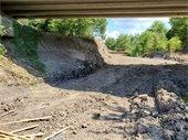 Lucas Bridge at South Mesquite Creek erosion