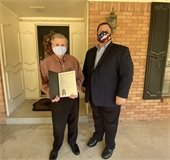 Bobby Robbinson and Mayor Bruce Archer