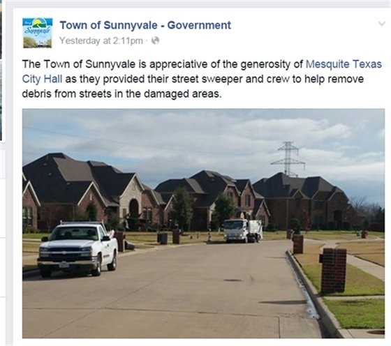 Sunnyvale Facebook Post