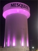 Pink water tower