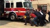 Fire truck push in