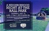 night at ball park