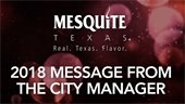 2018 Message from the City Manager