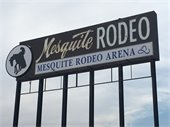 mesquite rodeo sign