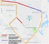 scyene road detour map