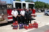 Mesquite firefighters with Spread the Love donations