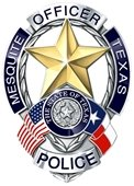 Mesquite police department badge