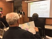 Resident attending public meeting on redistricting