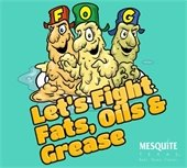 Don't pour fats, oils and grease down the drain