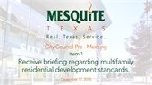City Council discusses multifamily residential development standards