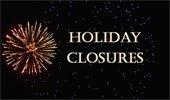 City holiday closures Jan. 1