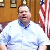 Mayor Bruce Archer in office during virtual storytime