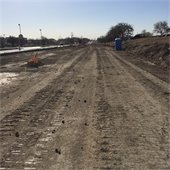 Town East Phase 2 subgrading the road
