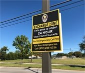 Exchange Zone sign at Mesquite Police Department
