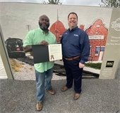 Tony Morris and Mayor Bruce archer