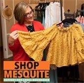 Shop Mesquite - woman shopping for shirt