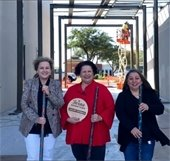 Downtown Mesquite volunteers and Downtown Manager Beverly Abell