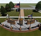 rendering of Mesquite veterans memorial