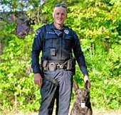 Officer Wilemon and K9 Axel