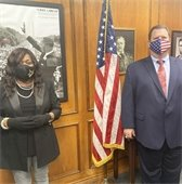 Yolanda Shepard and Mayor Bruce Archer