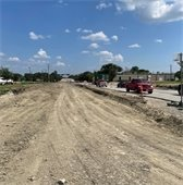 Town East Phase 2 subgrade of the road
