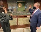Detra Hill swears in Alternate Municipal Court JUdge