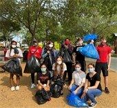 JHHS students pick up trash