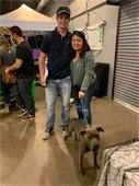 Lucy adopted at Animal Services event