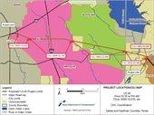 TXDOT US 80 project limits map
