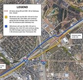 map of detour routes for this weekend's 635 construction