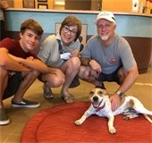 family adopts dog from Mesquite animal shelter
