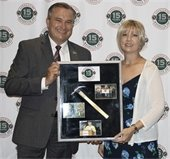 City Manager Cliff Keheley pictured with Valerie Bradley