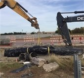 Town East Phase 2- trucks install Water Line