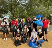 groups at Trash Bash clean up event