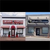 downtown facade grant program before and after photo