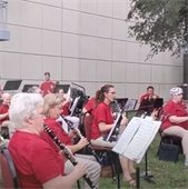 Mesquite community band plays at music in the park